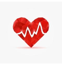 Heart tag pulse vector image