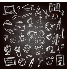Set of school sign and symbol vector