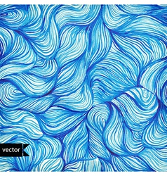 watercolor seamless wave hand-drawn pattern vector image