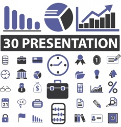 business presentation signs vector image