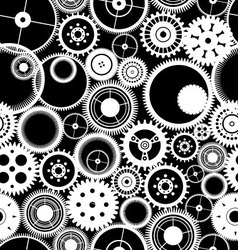Gear seamless background vector image vector image