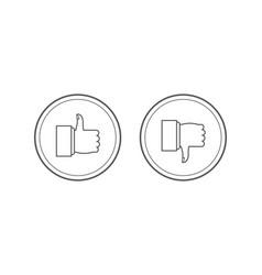 like and dislike icons set thumbs up and thumbs vector image
