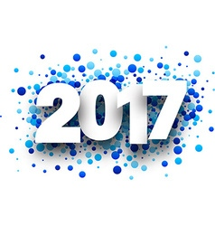 2017 background with blue drops vector