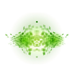 abstract background squares fish green vector image