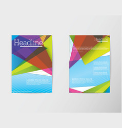 Abstract Triangle Brochure Flyer design in A4 size vector image