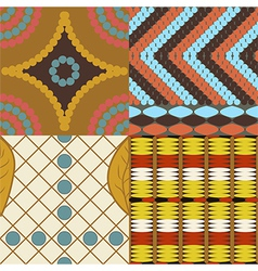 Africa set of 4 seamless patterns vector