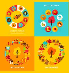 Autumn concept set vector