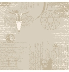 background of the papyrus with occult symbols vector image