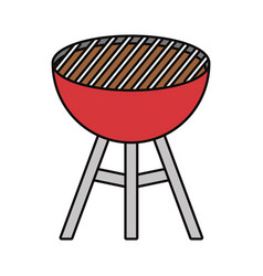 bbq grill icon image vector image