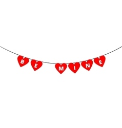 Be Mine bunting vector