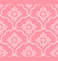 beautiful pink pattern vector image