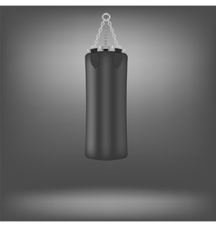 Black boxing bags vector