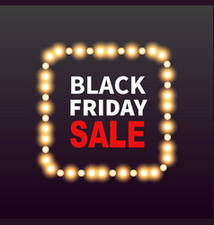 black friday sale banner background with frame vector image