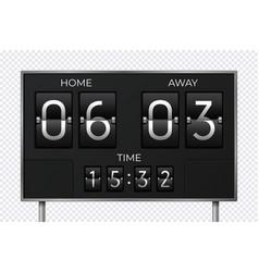 black retro scoreboard stadium soccer countdown vector image