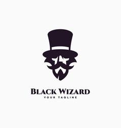 black wizard logo vector image