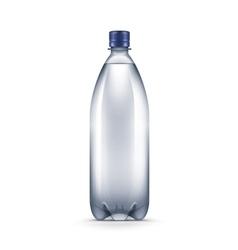 Blank Plastic Blue Water Bottle vector