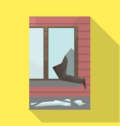 Broken and window logo vector