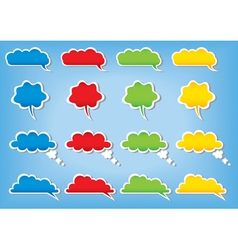 bubbles cloud color vector image