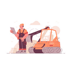 building construction process vector image
