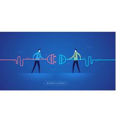 businessmen connect connectors vector image