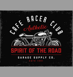 Cafe racer club vintage badge vector