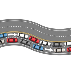 Cars travel traffic go one direction vector