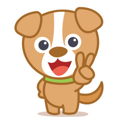 character dog animal cartoon style vector image