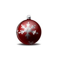christmas tree with a snowflake pattern vector image