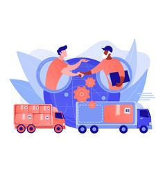 collaborative logistics concept vector image