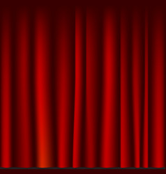Creases drapery fabric red curtain seamless vector