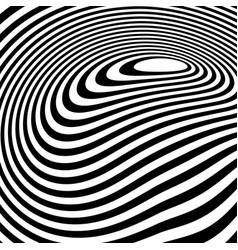 Curvy irregular dynamic lines abstract geometric vector