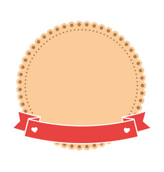 Decorative frame with ribbon ico vector