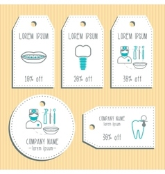 Den discount gift tags Ready to use Flat design vector image