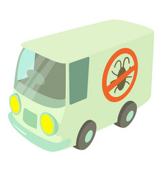 Disinfection car icon cartoon style vector