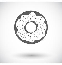 Donut flat icon vector
