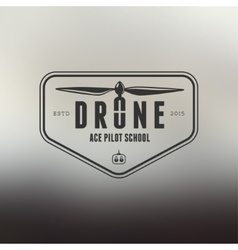 Drone vintage style label vector