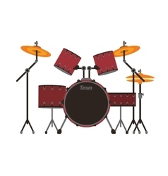 Drums set icon vector