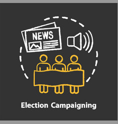 Elections chalk concept icon election campaigning vector