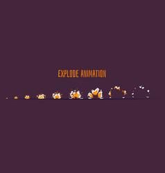 explode effect burst sprites vector image