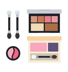 eye shadows in open cases icon flat isolated vector image