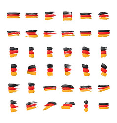 germany flag on a white vector image