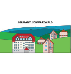germany schwarzwald city skyline architecture vector image