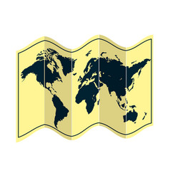 Global geography map object information vector