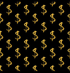 Golden dollars seamless pattern background vector