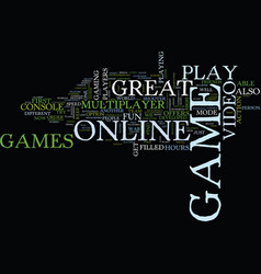great online video games that you should play vector image