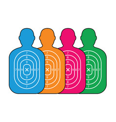 Group of men paper targets vector
