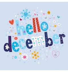 hello december vector image