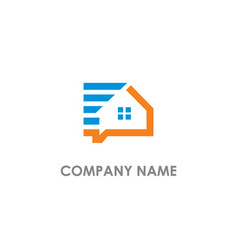 home realty consulting logo vector image