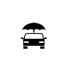 insurance car umbrella flat icon vector image