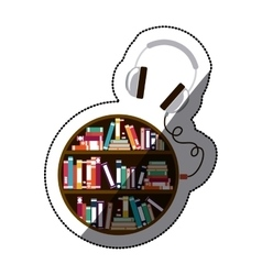 Isolated ebook and headphone design vector